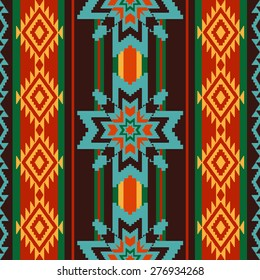 Abstract  ethnic pattern with stars