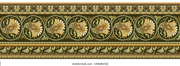 Abstract ethnic stripe pattern, ornamental vector background