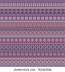 Abstract ethnic stripe pattern, ornamental vector background. Seamless pattern