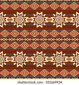 Abstract ethnic textil pattern with stars