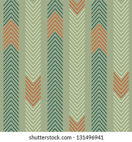Abstract ethnic zigzag background, seamless pattern