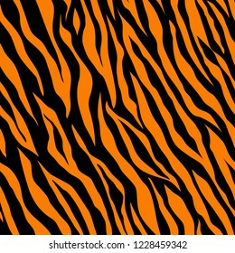 Abstract exotic pattern. Brown tiger background. Vector image. Seamless pattern