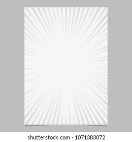 Abstract explosion design brochure template - gradient vector stationery background graphic with radial stripes