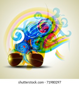 abstract eye glass vector background