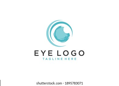 Abstract Eye Logo . Circle Icon. Usable for Business and Technology Logos. Flat Vector Logo Design Template Element.