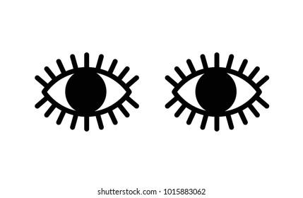 Abstract Eyes with Lashes