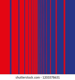 Abstract fade from red to blue with vertical bars
