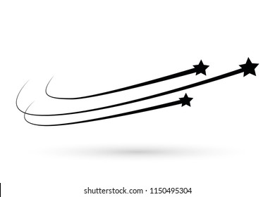 Abstract Falling Star Vector. Abstract falling stars, meteoroid, asteroid with geometric star trail