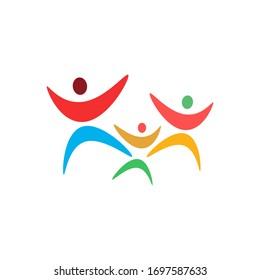 Abstract family logo template vector icon design
