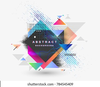 Abstract fantastic background, vector geometric pattern