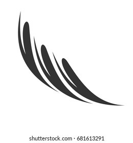 Abstract Feather Logo Template Illustration Design. Vector EPS 10.