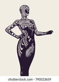 Abstract Female Figure. Vector Illustration.