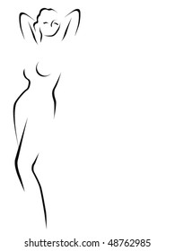 Abstract female model vector