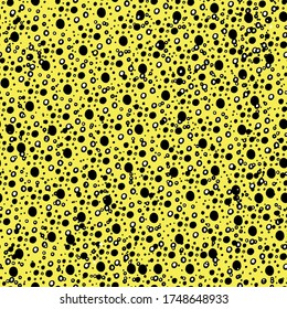 Abstract festive background, pattern with circles, dots, blots. manual graphics of New Year's packing. Peas of different shapes. Design for packaging, wallpaper, textiles, designer paper. Isolated
