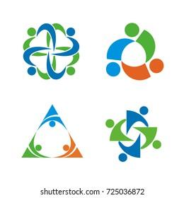 Abstract figure logo design template vector
