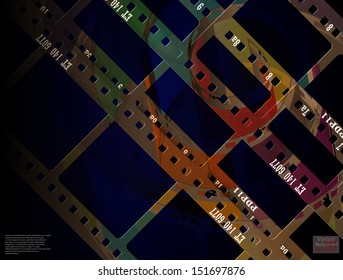 abstract film frame