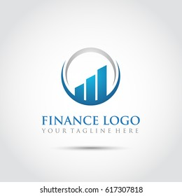 Abstract Finance Logo Template. Vector Illustrator Eps.10