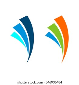 Abstract Finance vector Logo Template