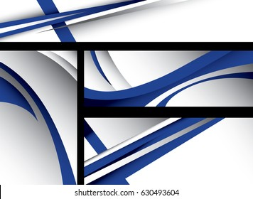 Abstract Finland Flag, Finnish Colors (Vector Art)