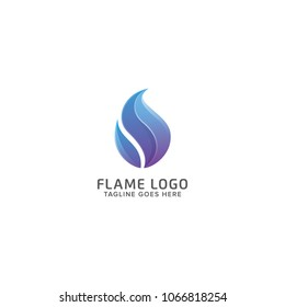 Abstract Fire Flame Logo Design Vector Template