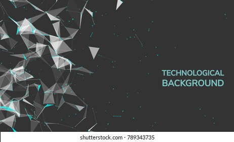 Abstract fire mesh background.Polygonal structure. low poly dark background with connecting dots and lines. Connection structure. 3d Plexus data science backdrop. Polygonal chaos . Molecule Big data