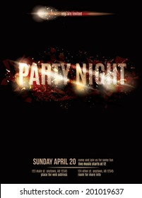 Abstract fire party flyer template