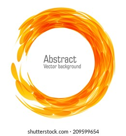 Abstract fire round background. Vector. EPS 10.