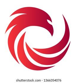 abstract firebird logo