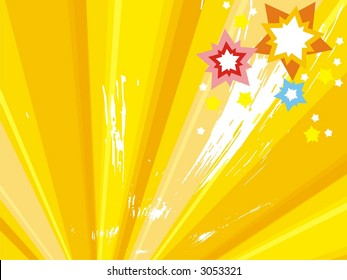 Abstract firework background. Vector illustration.