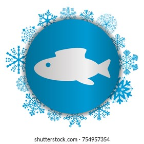 abstract fish christmas icon