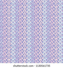 Abstract Fish Net Loop Pattern, Seamless Vector Background, Hand Drawn Scribble Illustration of Netting for Home Decor, Trendy Gift Wrap, Summer Fashion Prints & Pretty Stationery, Lilac Purple Blue