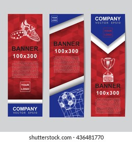 Abstract flag colour banner for Website Ads.