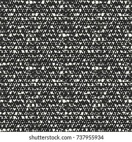 Abstract Flake Dot Melange In Black And White. Seamless Pattern.