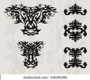 Dragon Head Ornament Stock Vectors, Images & Vector Art