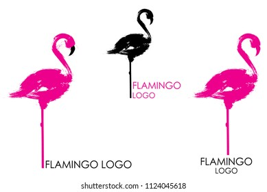 Abstract flamingo logo design. Vector illustration of flamigo.