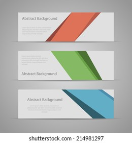 Abstract Flat Design Background banners.