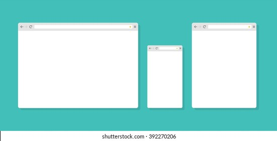 Abstract Flat Design Internet Browser Template Stock Vector Royalty
