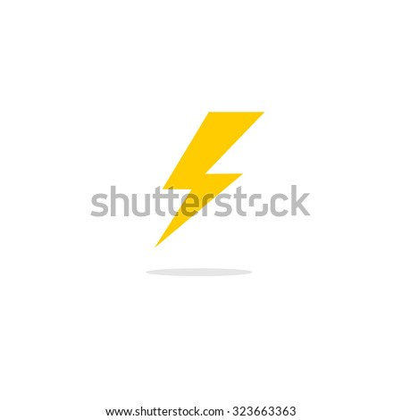 Abstract flat design thunder