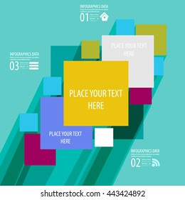 Abstract flat designed background. Vector illustration