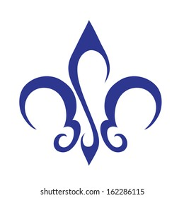 Abstract Fleur De Lis Icon