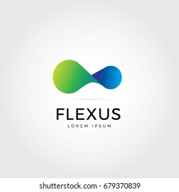 Abstract Flexible Logo Symbol Icon
