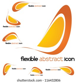 abstract flexible, technology icon, logo