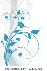 an abstract floral background for design