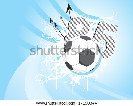 Abstract Floral Background Football Illustration Stock