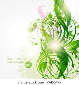 abstract floral background with place for your text. vector eps 10
