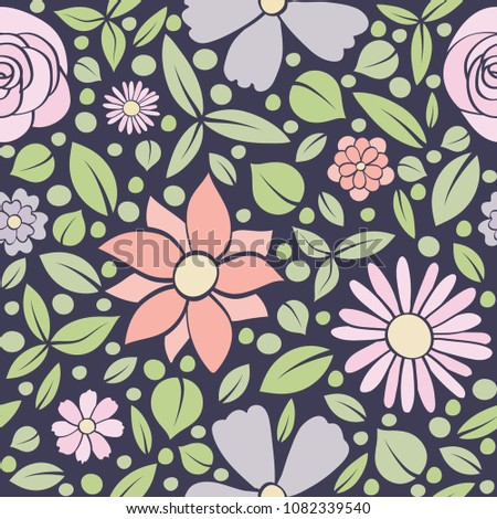 Abstract Floral Background Seamless Pattern Spring Stock