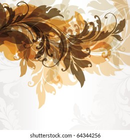 Abstract floral background with space for text