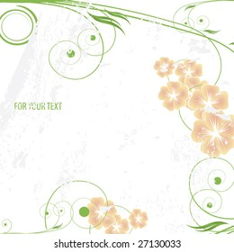 abstract floral background with space for your text