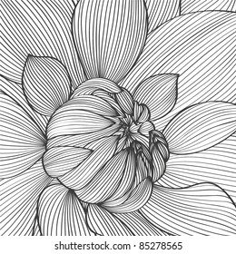 Abstract floral background. Vector flower dahlia. Element for design