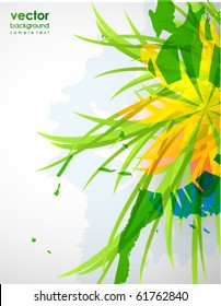 Abstract floral colorful background